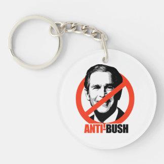 Anti-George Bush Double-Sided Round Acrylic Keychain