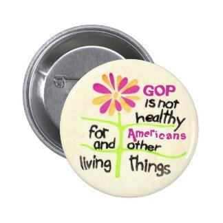 Anti-GOP 2 Inch Round Button