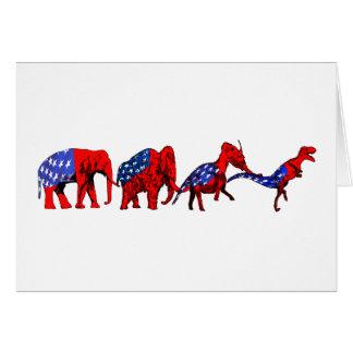 Anti-GOP Anti-Republican Evolution Satire Greeting Card