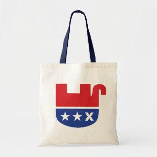 Anti GOP Republican Dead Elephant Budget Tote Bag