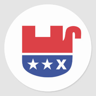 Anti GOP Republican Dead Elephant Round Sticker