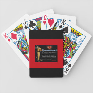 Anti-Gun Violence - Listen to Bunny Bicycle Playing Cards