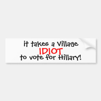 ANTI-HILLARY 2016 BUMPER STICKER