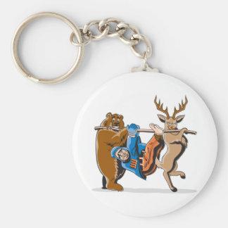 Anti Hunting Animal Revenge Basic Round Button Keychain