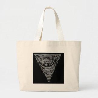 Anti-Illuminati Large Tote Bag