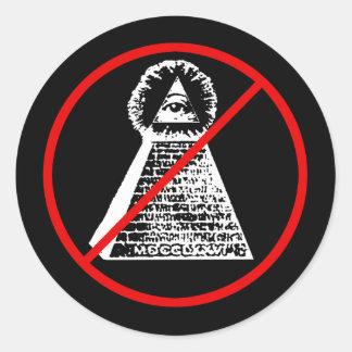 Anti Illuminati Sticker