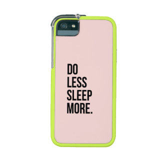 Anti Inspirational Funny Quotes Do Less Pink Cover For iPhone 5