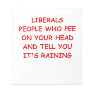 anti liberal memo pads