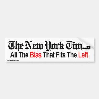 "anti liberal ""NY TIMES"" bumper sticker"
