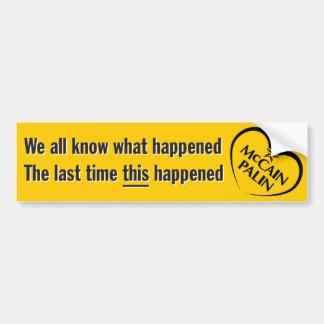 Anti-McCain, Anti-Palin Sticker Bumper Sticker
