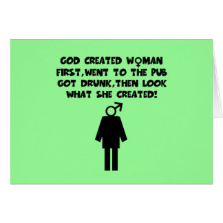 Anti men funny women's greeting card