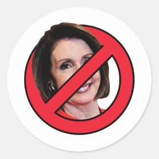 Anti Nancy Pelosi Classic Round Sticker