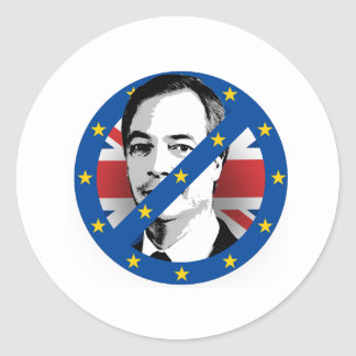 Anti Nigel Farage - -  Round Sticker