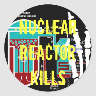 Anti-Nuclear Reactor Protest Products Classic Round Sticker