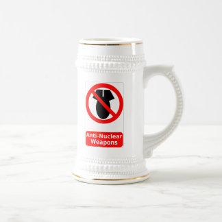 Anti-Nuclear Weapons Beer Stein