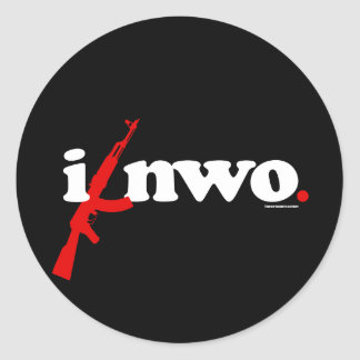 ANTI-NWO CLASSIC ROUND STICKER