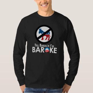 Anti-Obama - Baroke Bumpersticker Shirts
