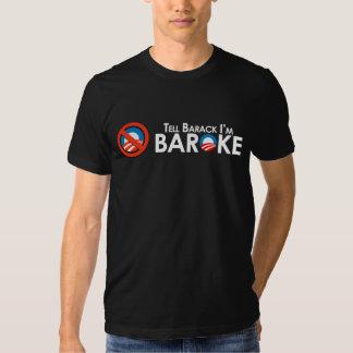 Anti-Obama - Baroke Bumpersticker T-shirt