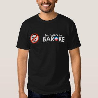 Anti-Obama - Baroke Bumpersticker Tee Shirts