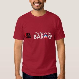Anti-Obama - Baroke Bumpersticker Tshirts