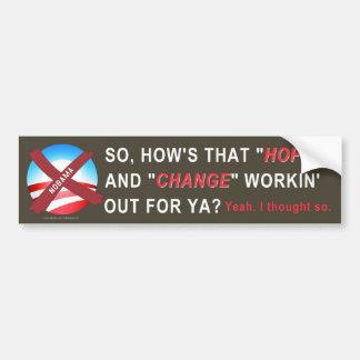 Anti-Obama Bumper Sticker brown