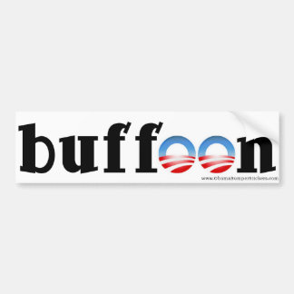 "Anti Obama Bumper Sticker ""buffoon!"""
