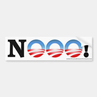 "Anti Obama Bumper Sticker ""NOOO!"""
