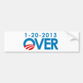 Anti-Obama Bumpersticker - Over 1-20-2013 Bumper Sticker