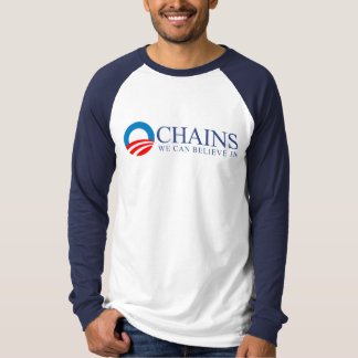 Anti-Obama - Chains we can believe in blue T-Shirt