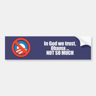 ANTI-OBAMA- dans Dieu nous faisons confiance, Obam Autocollant De Voiture