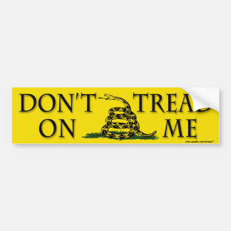 "Anti Obama ""Dont Tread On Me"" bumper sticker"