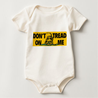 anti obama 'don't tread on me' gadsden baby bodysuits