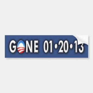 """Anti Obama """"GONE 012013"""" Bumper Sticker"""