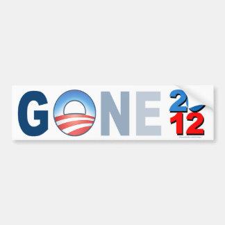 """anti Obama """"Gone 2012"""" sticker"""
