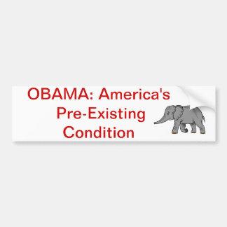 Anti-Obama healthcare bumper sticker Car Bumper Sticker