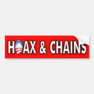 "Anti Obama ""Hoax & Chains"" bumper sticker"