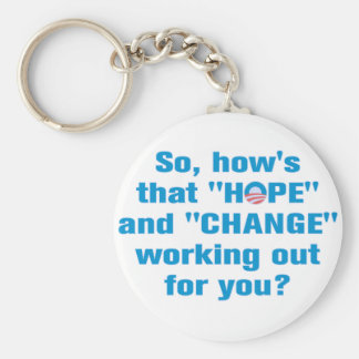 "Anti Obama ""Hope"" and ""Change"" Keychain"