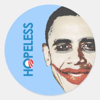 Anti-Obama - HOPELESS Classic Round Sticker