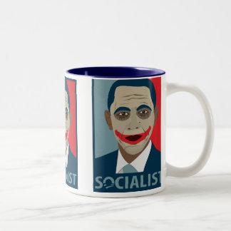 Anti-Obama Joker Socialist Two-Tone Coffee Mug