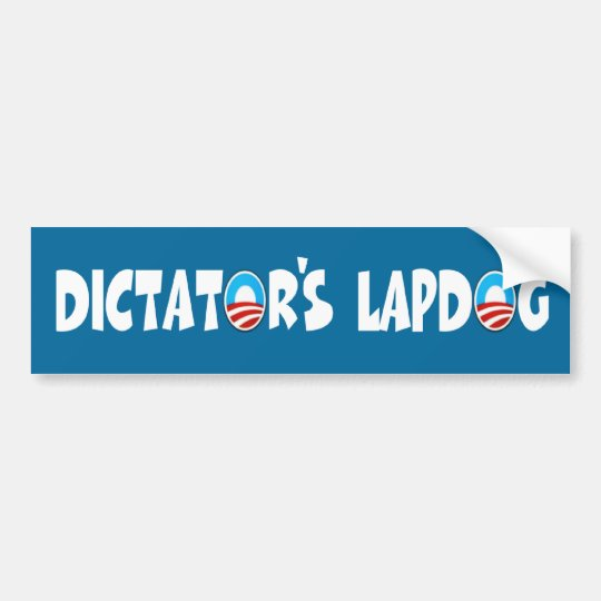 Anti Obama,lap dog Obama Bumper Sticker