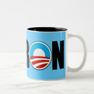 Anti Obama moron Two-Tone Coffee Mug