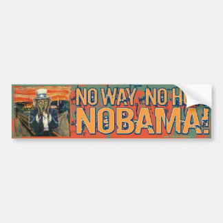 Anti Obama No Way No How Nobama Car Bumper Sticker