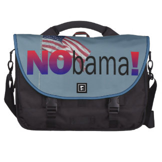 Anti Obama NOBama American Flag 2012 Election Laptop Messenger Bag