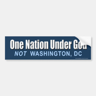 "anti Obama ""One Nation Under God"" Sticker"