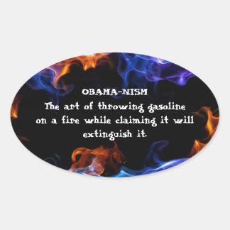 Anti-Obama Oval Sticker