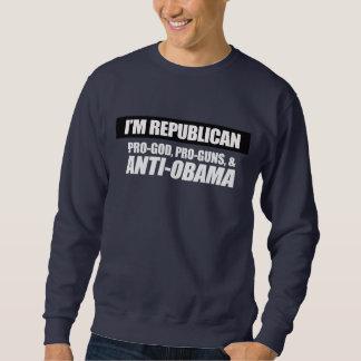 Anti-Obama - PRO-GOD PRO-GUNS ANTI-OBAMA Bumpersti Sweatshirt