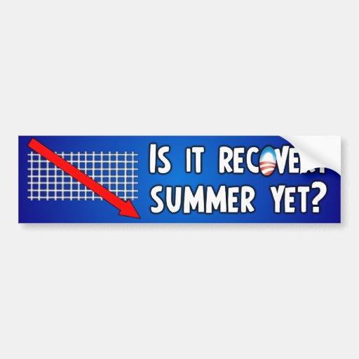 Anti Obama Recovery Summer Bumper Sticker