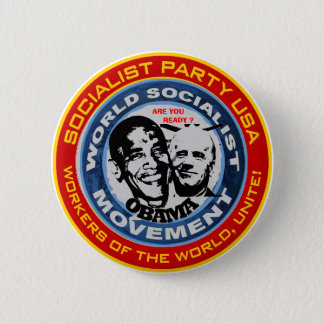 anti obama socialist jugate 2 inch round button