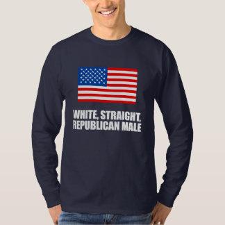 ANTI-OBAMA- White straight Republican Male T-Shirt