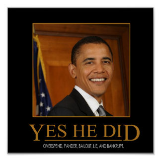 Anti Obama Yes He Did Demotivational Poster